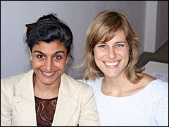 Shazi Visram and Jessica Rolph